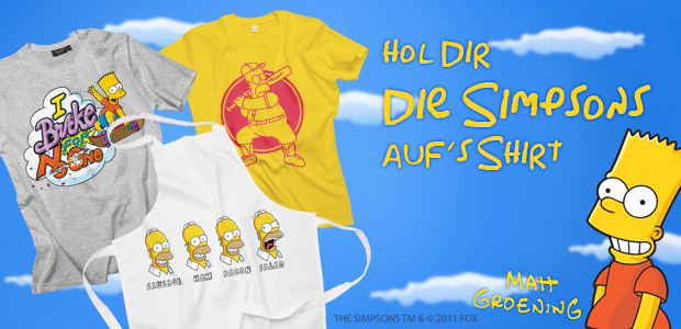 Hol Dir Dein Simpsons T Shirt Offizielle Simpsons Motive