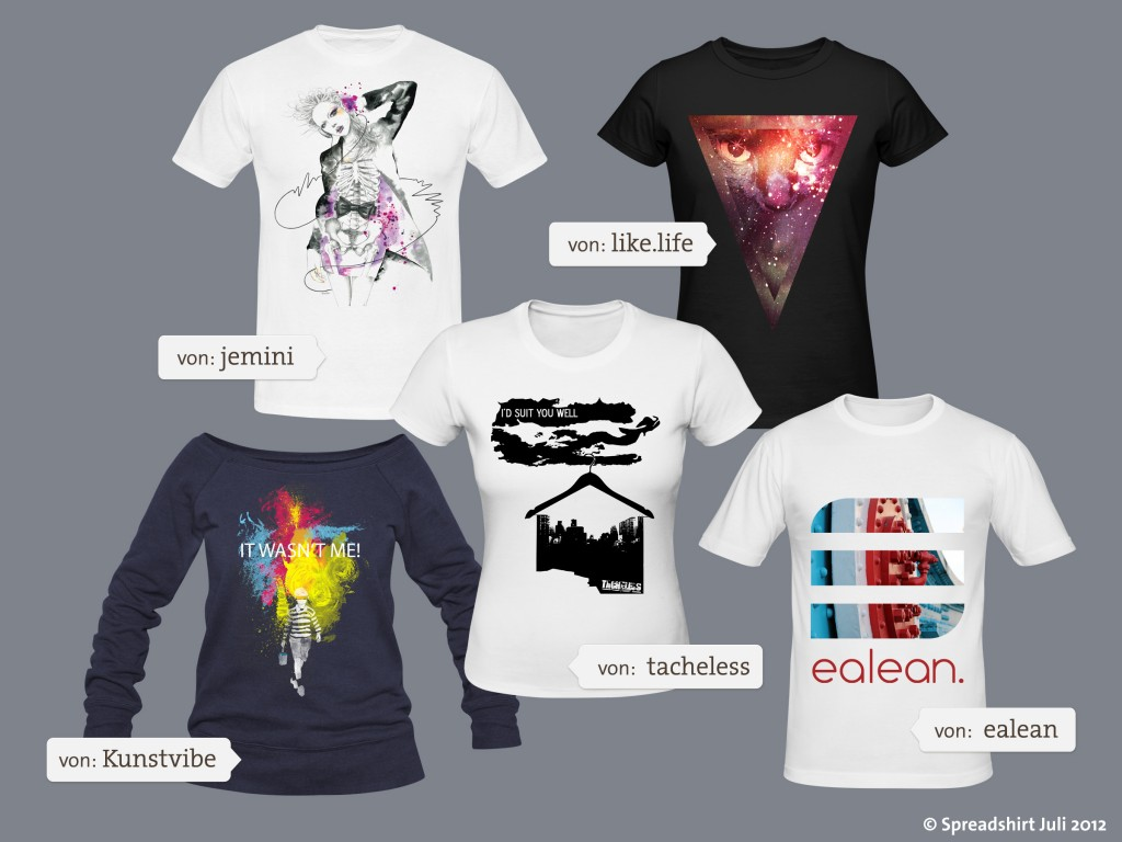Kunst auf Shirts - Spreadshirt