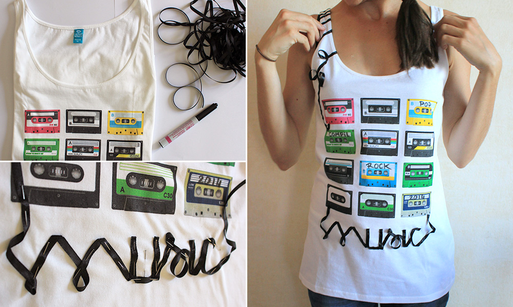music t shirt diy tutorial mit bloggerin marion das deutsche spreadshirt blog. Black Bedroom Furniture Sets. Home Design Ideas