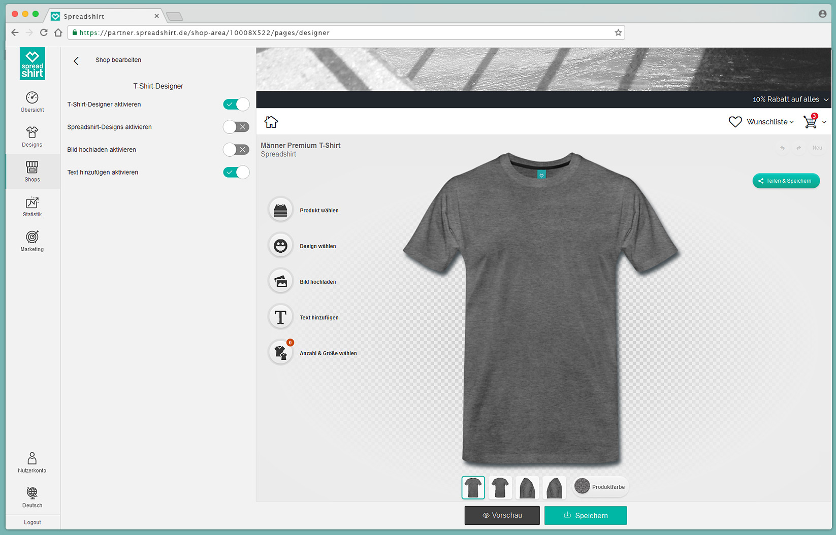 spreadshop binde den t shirt designer ein. Black Bedroom Furniture Sets. Home Design Ideas
