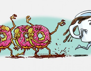 Donut Zombies Want Coffee