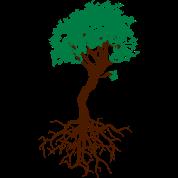 bonsai baum mit wurzeln lebensbaum sch rze spreadshirt. Black Bedroom Furniture Sets. Home Design Ideas