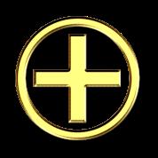 positiv energie symbol gold dd symbole kraft zeichen. Black Bedroom Furniture Sets. Home Design Ideas