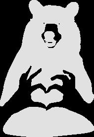 Valentinstag Bär Mit Herz Pärchen Mann Frau Liebe