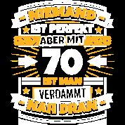 Lustiger spruch 70 geburtstag t shirt spreadshirt for Lustige geschenke zum 70 geburtstag