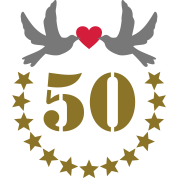 Goldene hochzeit 50 geburtstag jubil um zahlen t shirt for 50e anniversaire de mariage robes en or