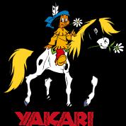 yakari und kleiner donner turnbeutel spreadshirt. Black Bedroom Furniture Sets. Home Design Ideas