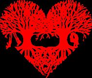 Valentinstag Herz Liebe Baum Paar Wurzeln Schaukel