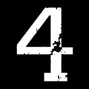 Die Zahl Vier  Nummer 4 zweifarbig wei TShirt  Spreadshirt