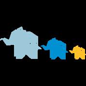 origami elefant familie natur tier geschenk von. Black Bedroom Furniture Sets. Home Design Ideas