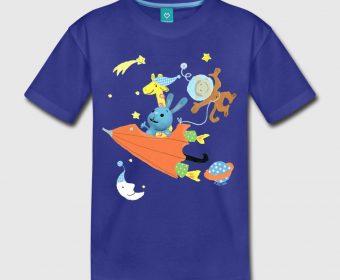 Kinder T-Shirt blau Kikaninchen gestalten bei Spreadshirt