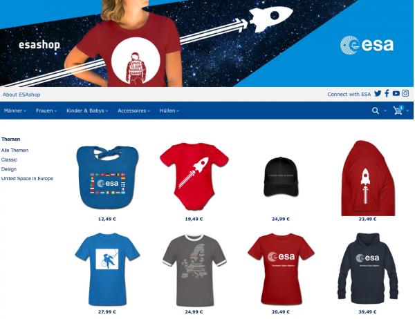 ESA-Shop bei Spreadshirt