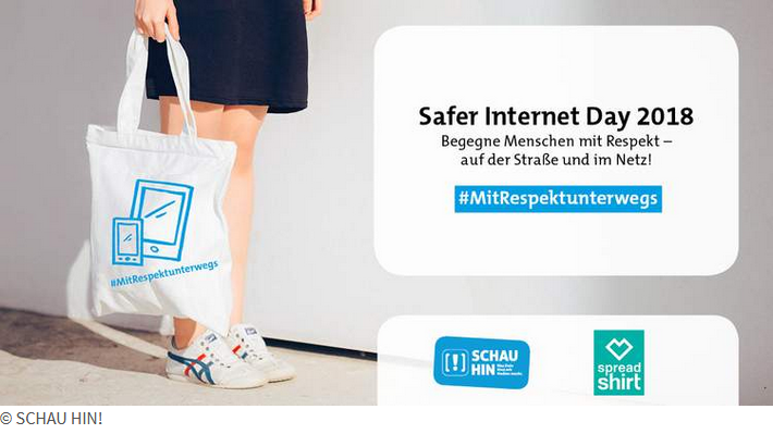Kreativwettbewerb von Spreadshirt und SCHAU HIN! zum Safer Internet Day