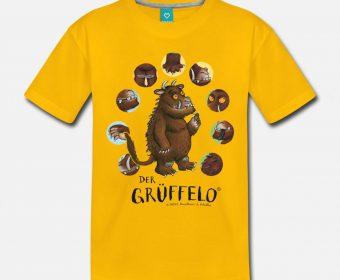 Kinder T-Shirt gelb mit Motiv Grüffelo