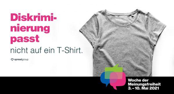 Woche der Meinungsfreiheit - Diskriminierung passt nicht auf ein T-Shirt